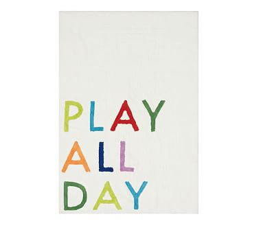 Play All Day Washable Rug, 4X6', White Multi