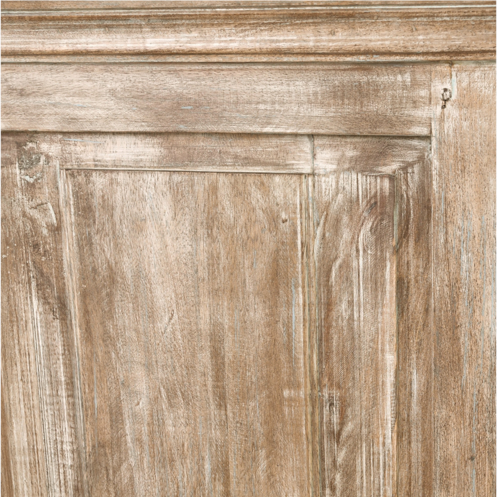 Melany French Country Rough Finish Brown 9 Drawer Wooden Dresser