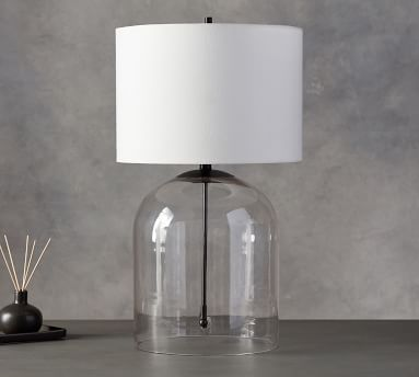 Aria Dome Table Lamp with Small Straight Sided Gallery Shade, Antique Brass/White