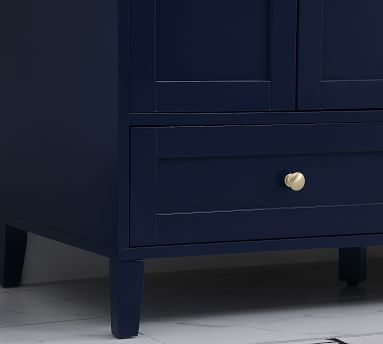 """Blue Moro Single Sink Vanity, 48"""""""