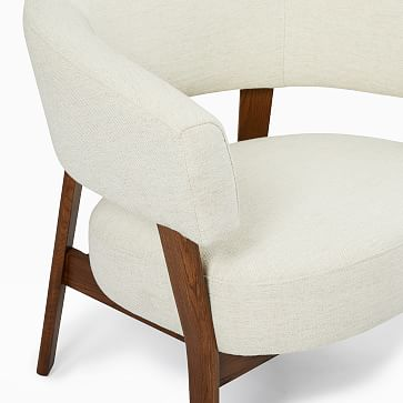 Juno Chair, Poly, Sand -Twill /Natural Oak legs