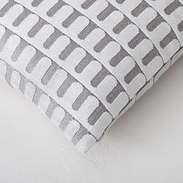 """Cut Velvet Archways Pillow Cover, 20""""x20"""", Regal Blue"""