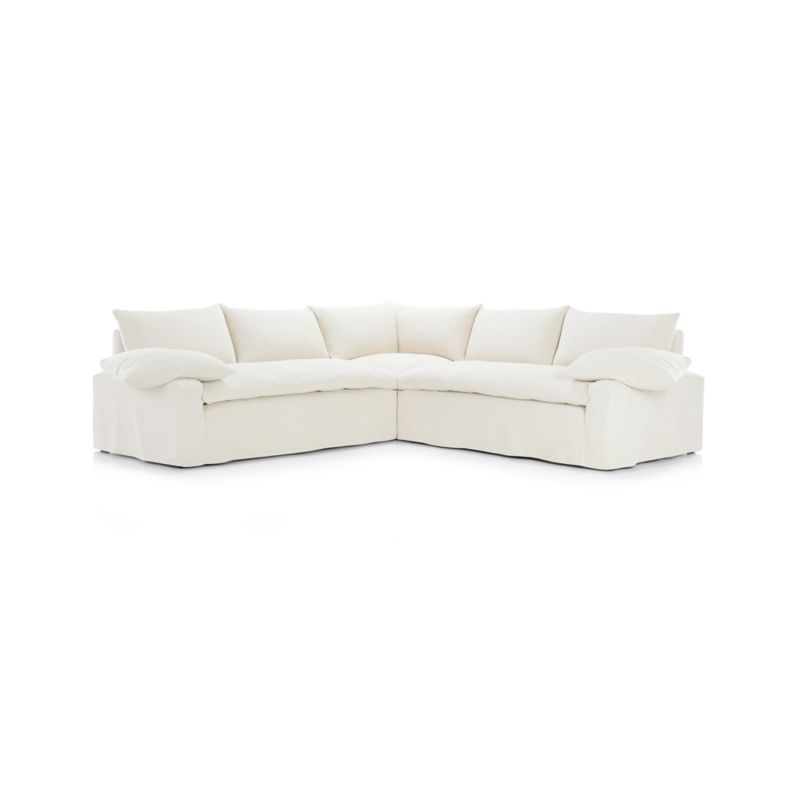 Ever Slipcovered 3-Piece Sectional