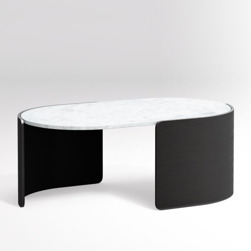 Holm Oval Marble Coffee Table