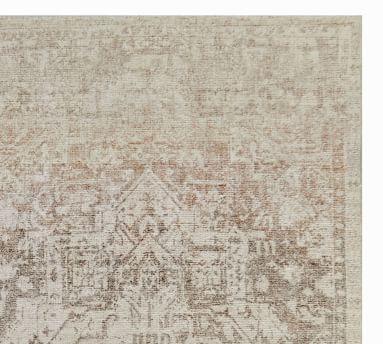 Garnet Printed Handwoven Rug, 5' x 8', Olive