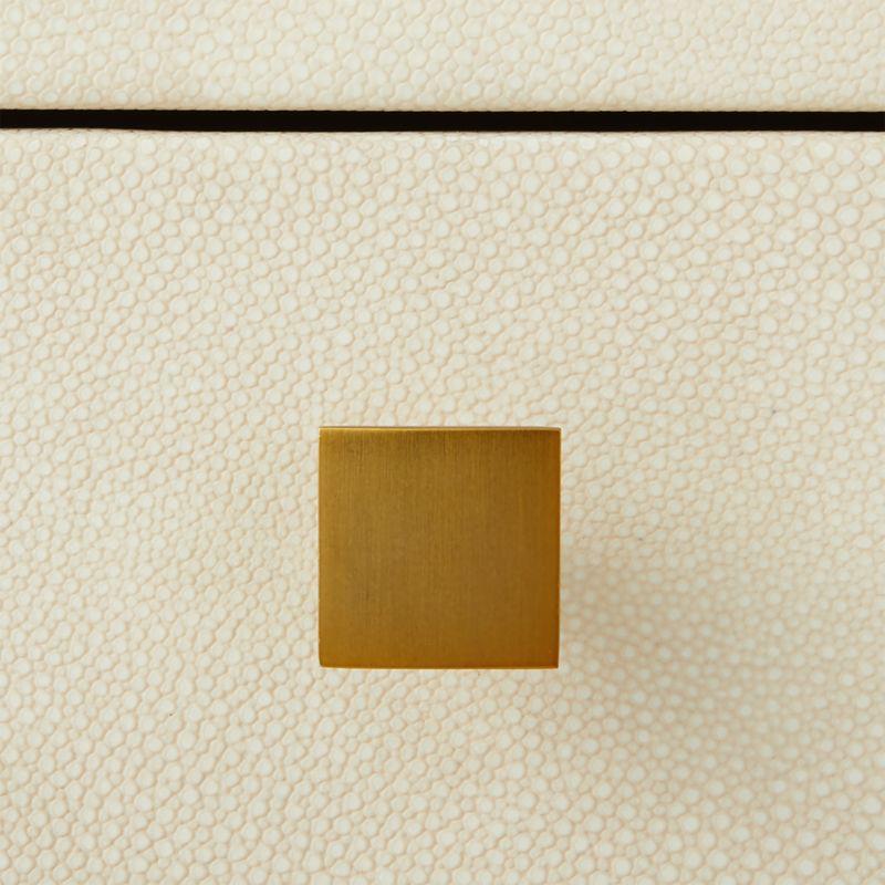 Avalon Ivory Faux Shagreen Desk