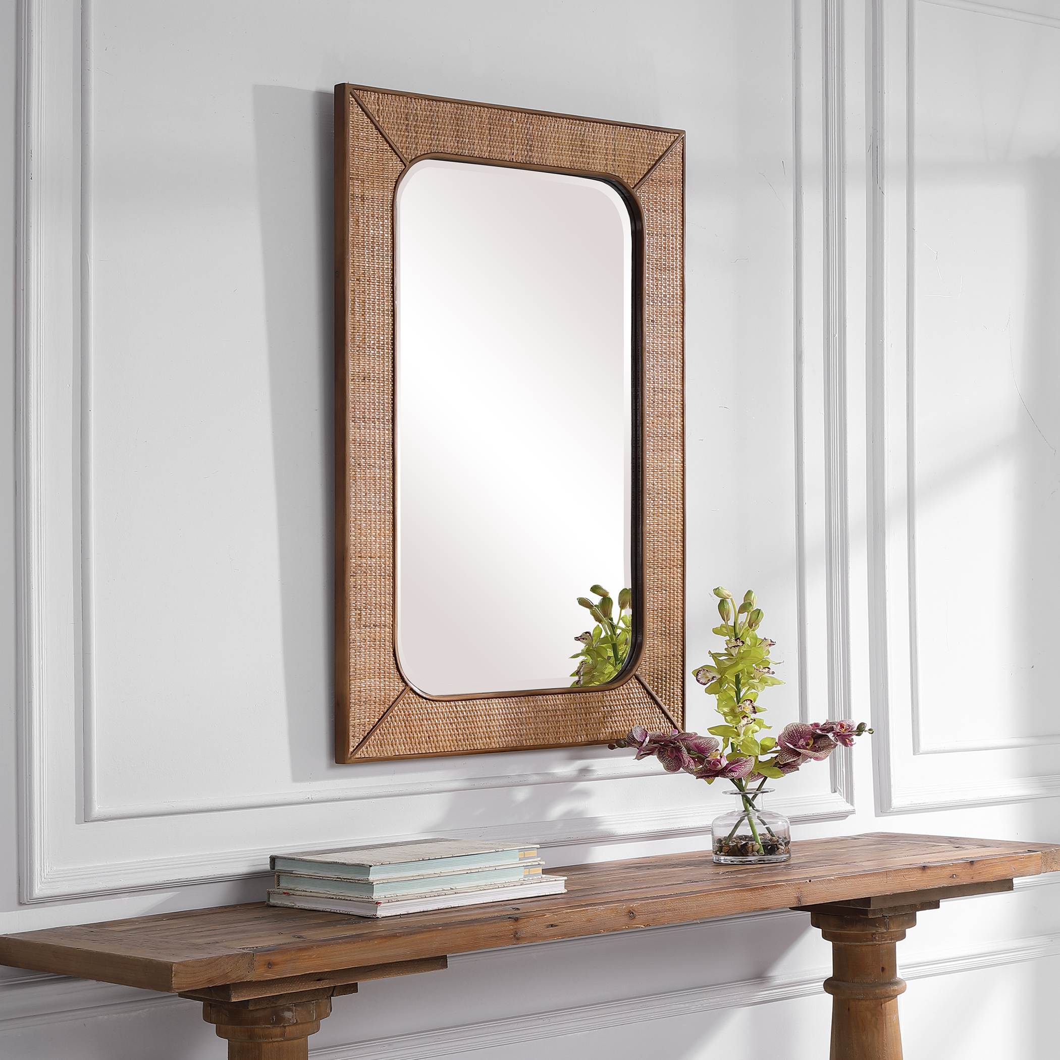 Tahiti Rattan Mirror