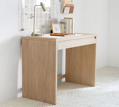 """Pacific 40"""" Desk with Drawer, Fog"""