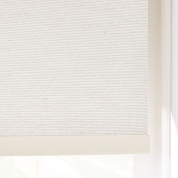 "Woven Cordless Roller Shades, Whisper White, 34""x48"""