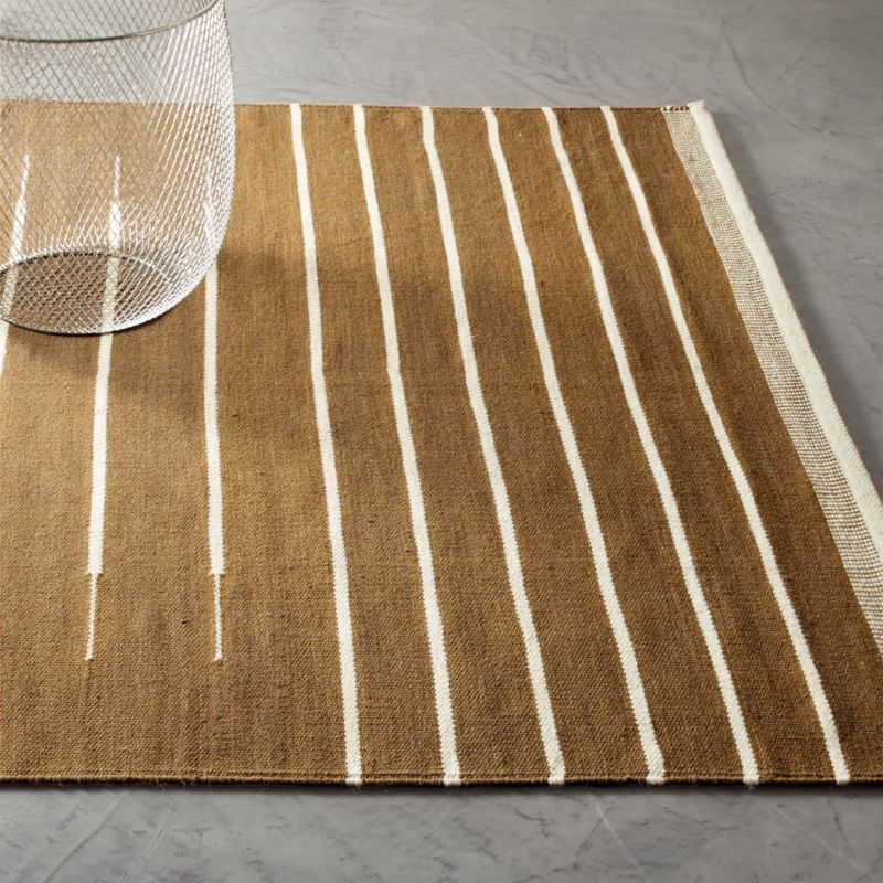 Copper with White Stripe Rug 5'x8'