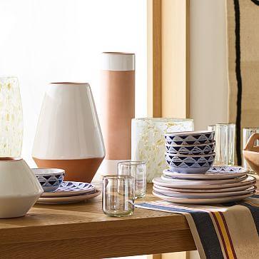Mexican White Vase, Set of 4