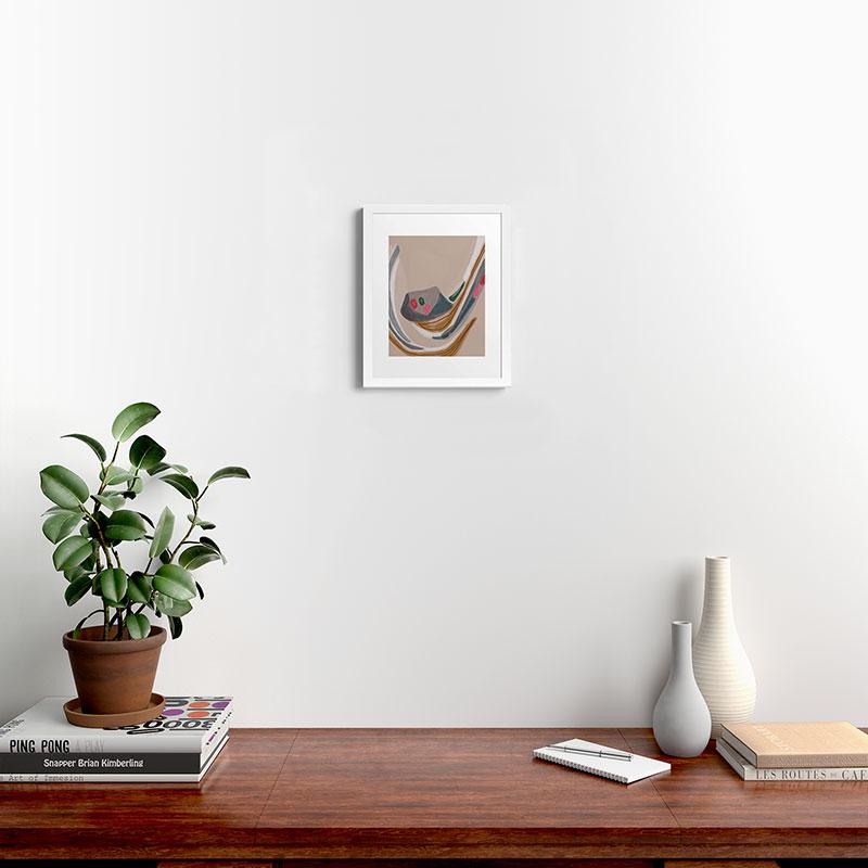 "Miley by Laura Fedorowicz - Modern Framed Art Print, White, 11"" x 14"""