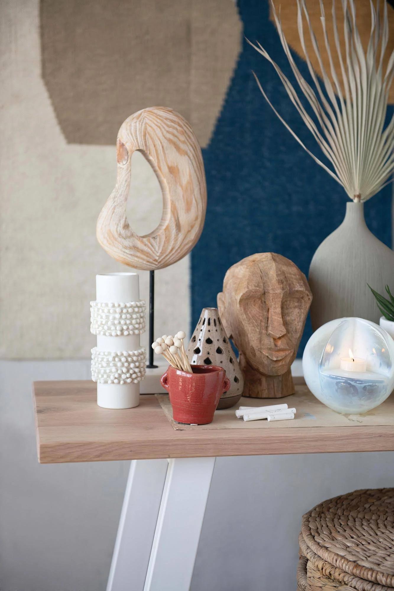 Runa Hand-Carved Wooden Sculpture
