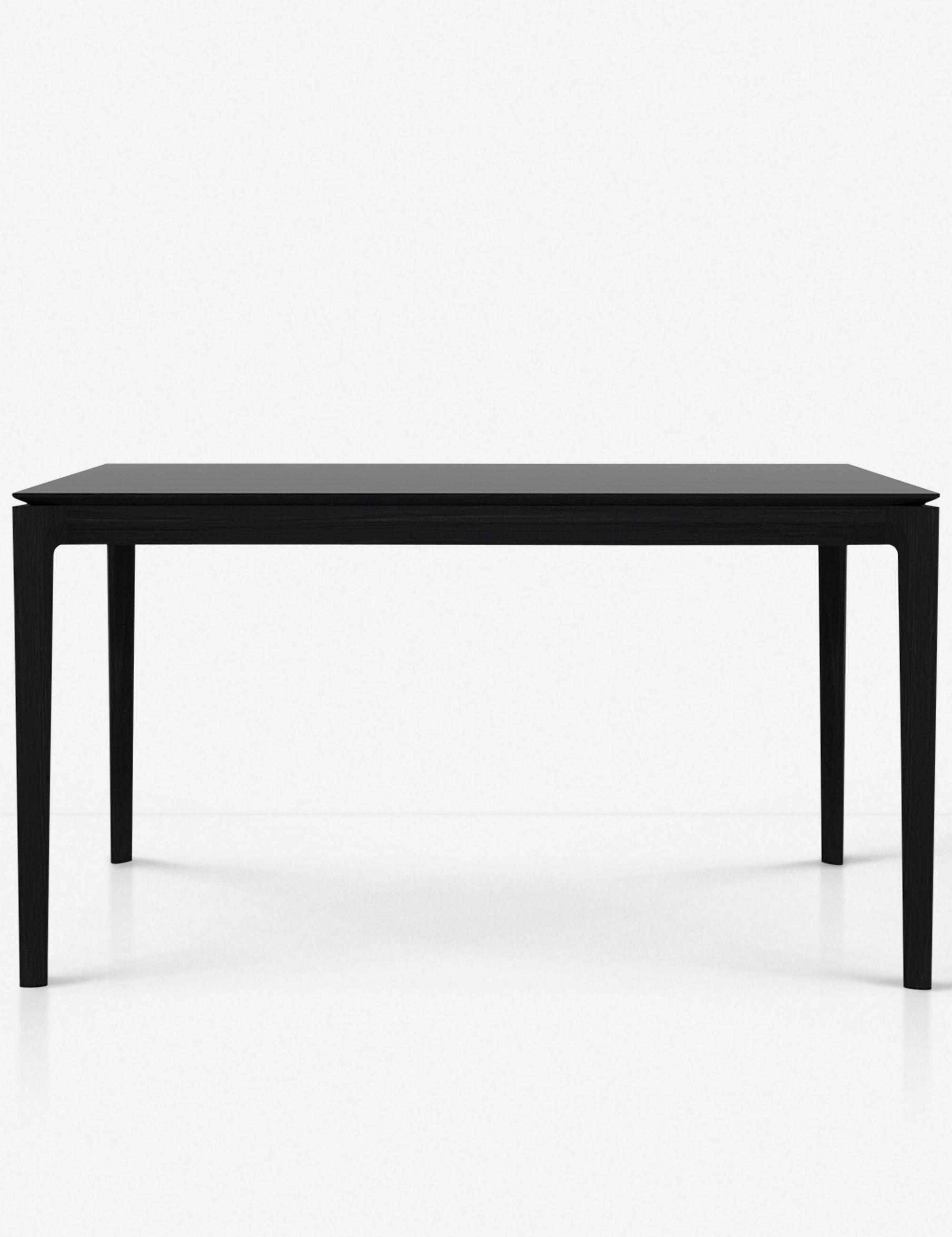 """Temple Dining Table, Oak Black 63""""L"""