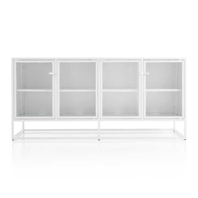 Casement White Large Metal Sideboard