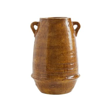 Holloway Handcrafted Terra Cotta Vase, Amber - Large