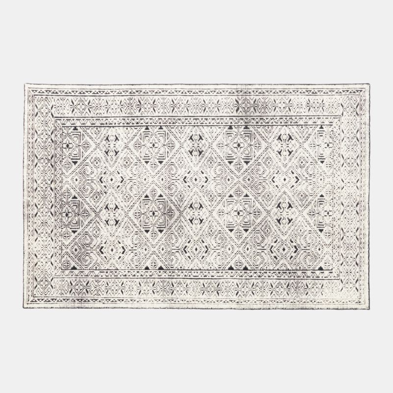 Raumont Handknotted Black Detailed Rug 6'x9'