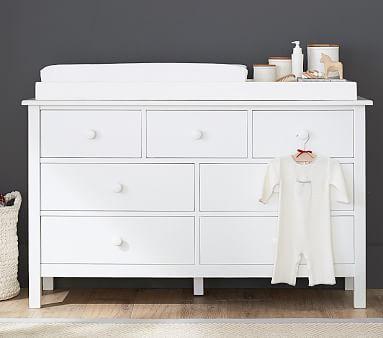 Kendall Extra-Wide Nursery Dresser & Topper Set,Chocolate
