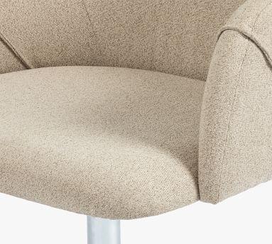 Colusa Upholstered Swivel Desk Chair, Fedora Oatmeal