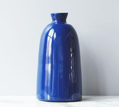 Artisanal Ceramic Vase, Small - Navy Blue