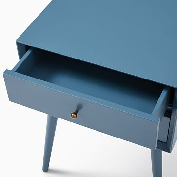 Mid-Century Nightstand, Petrol Blue
