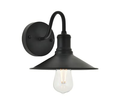 Harbin Single Sconce, Black