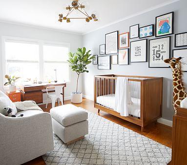 Sloan Acrylic Crib & Lullaby Mattress Set, Simply White, UPS