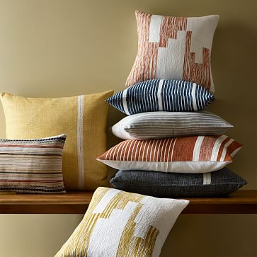 "Silk Mini Stripe Pillow Cover, 20""x20"", Dark Brown"