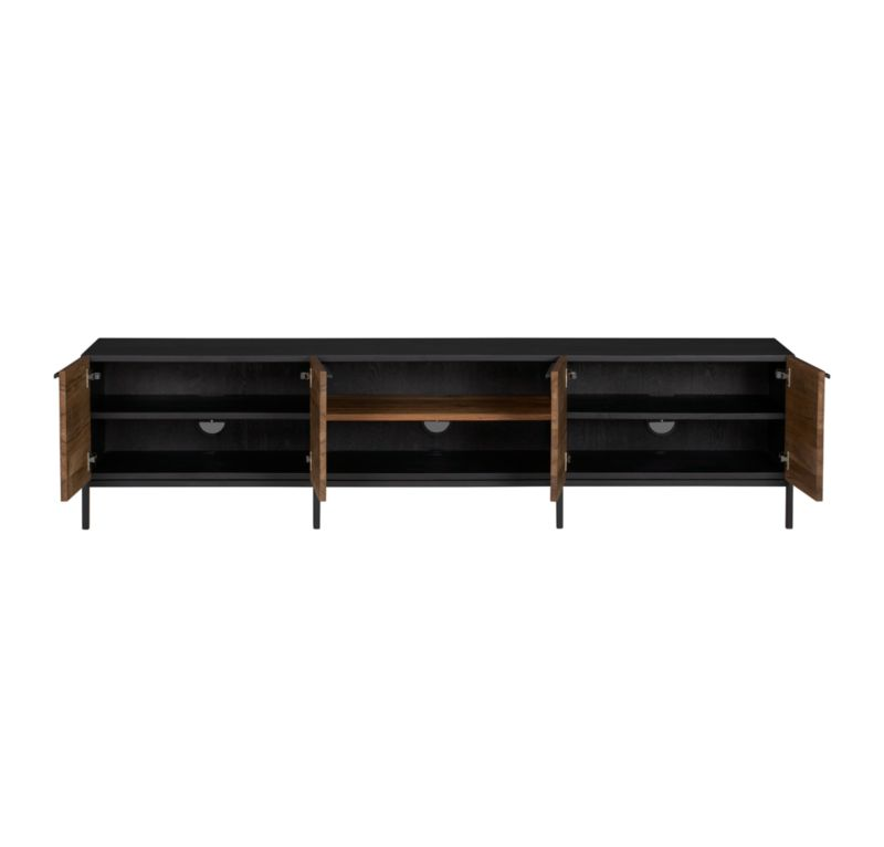 """Rigby Natural 80.5"""" Large Media Console with Base"""