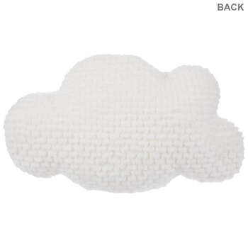 """Cloud Pillow with Eyelashes, White Polyester, 18"""" x 12"""""""