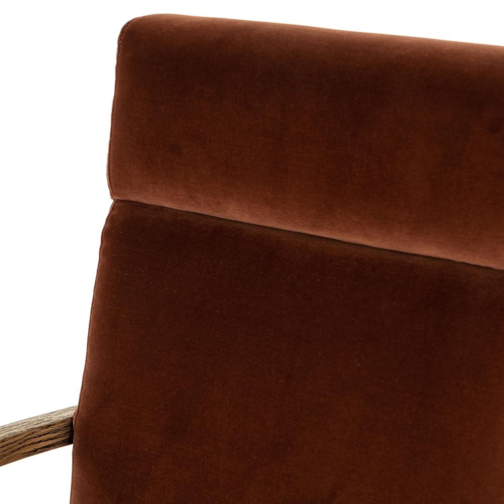 Camden Desk Chair, Burnt Auburn