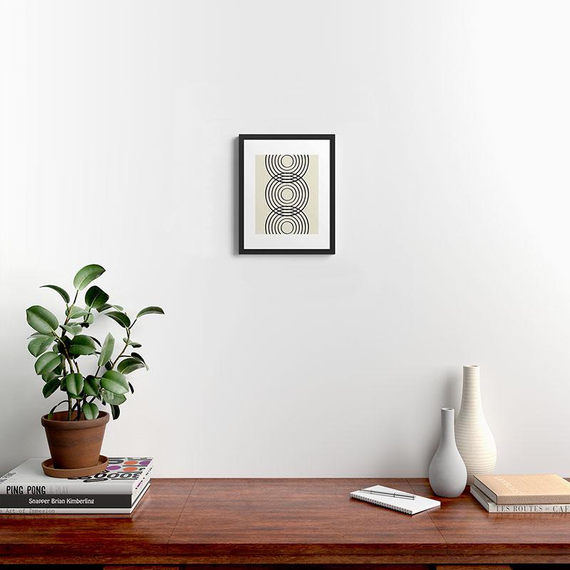 "Life Balance by Grace - Modern Framed Art Print, Black, 11"" x 14"""