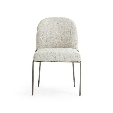 Curved Back Dining Chair, Lyon Pewter