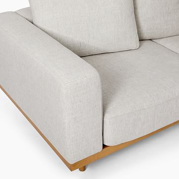 Newport Sectional Set 03: Left Arm Sofa, Corner, Right Arm Sofa Boxed Cushion, Down Blend, Twill, Wheat, Pecan