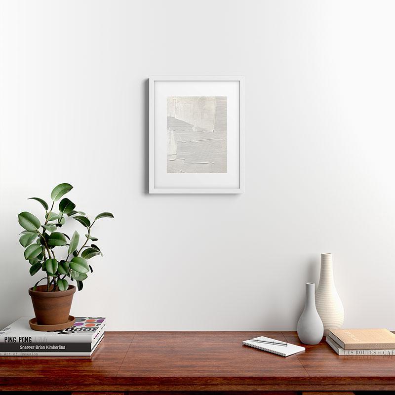 "Relief 1 by Alyssa Hamilton Art, Classic Framed Art Print, White, 16"" x 20"""