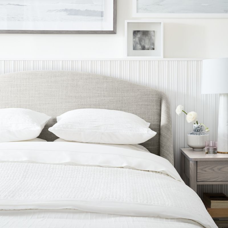 Lafayette Mist Upholstered King Bed without Footboard