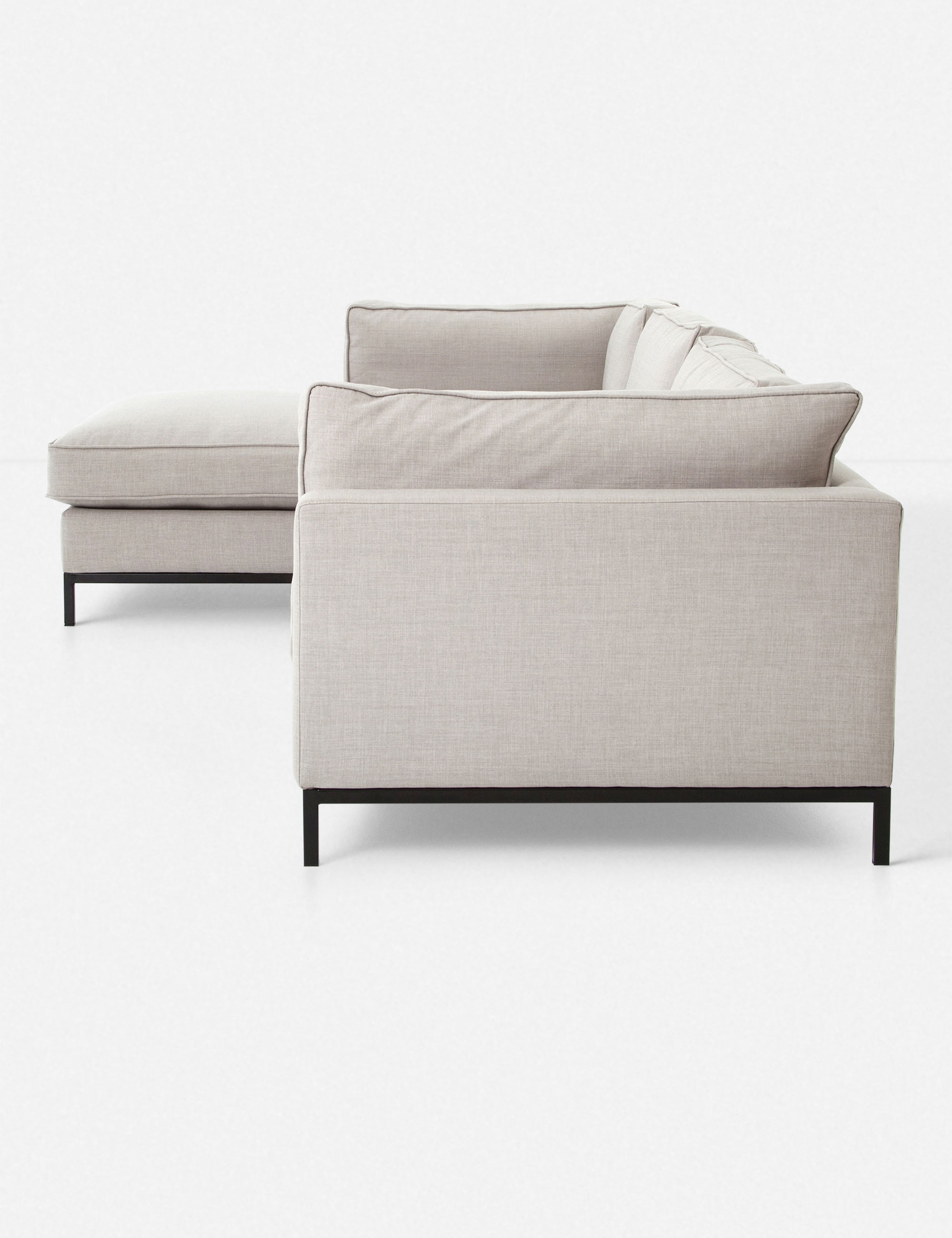 Fritzie Left-Facing Sectional, Natural