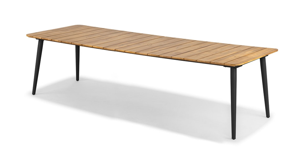 Latta Natural Slate Gray Dining Table for 10