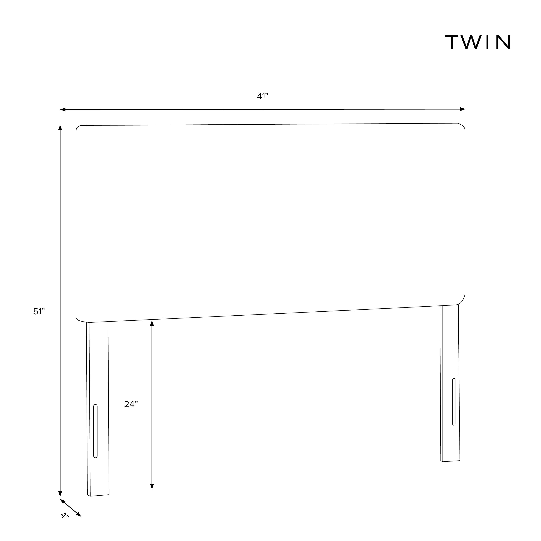 Radcliff Headboard, Twin, Talc