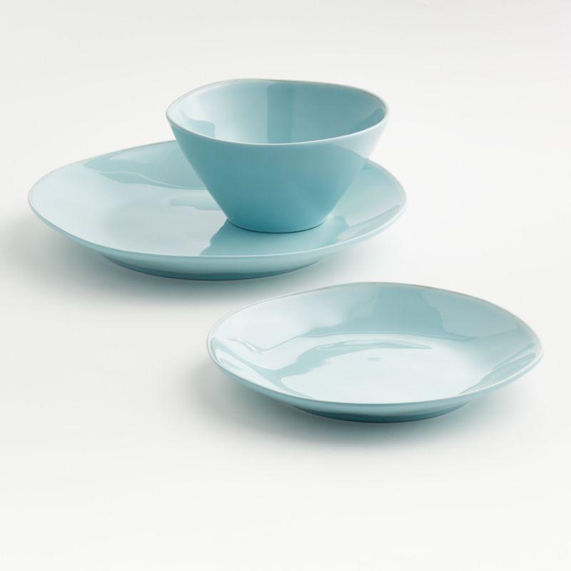 Marin Blue Melamine Dinner Plate