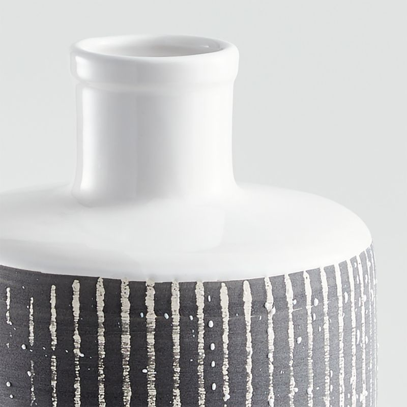 Elmslie Black-and-White Ceramic Bottle Vase