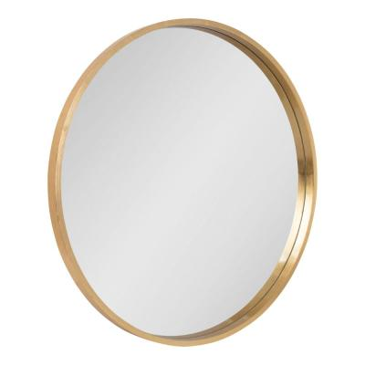 Kate and Laurel Round Gold Wall Mirror