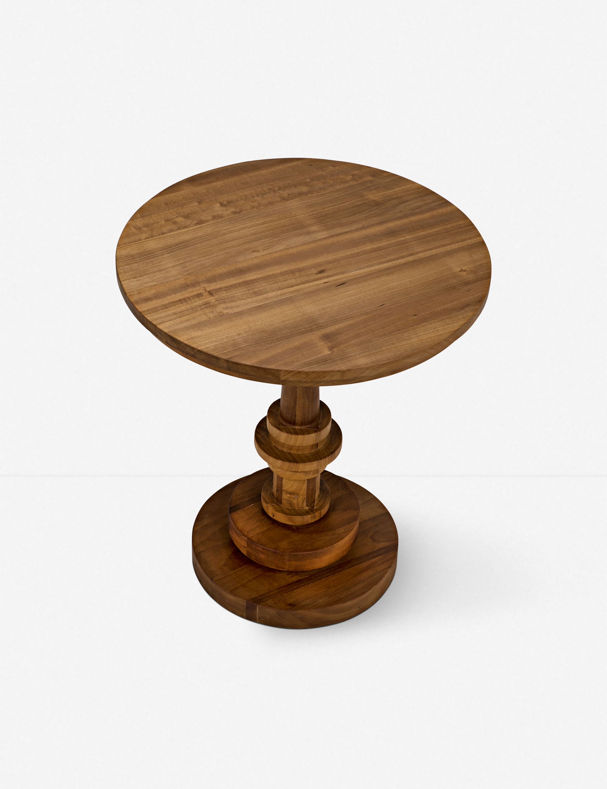 Mikella Side Table, Gold Teak