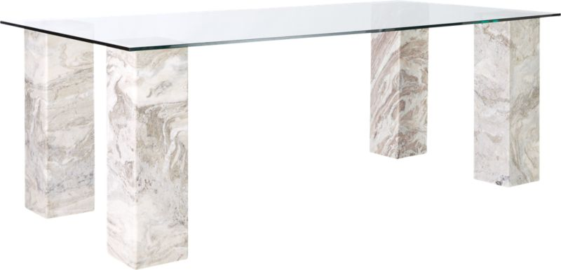 Triple Dining Table with Rectangle Top