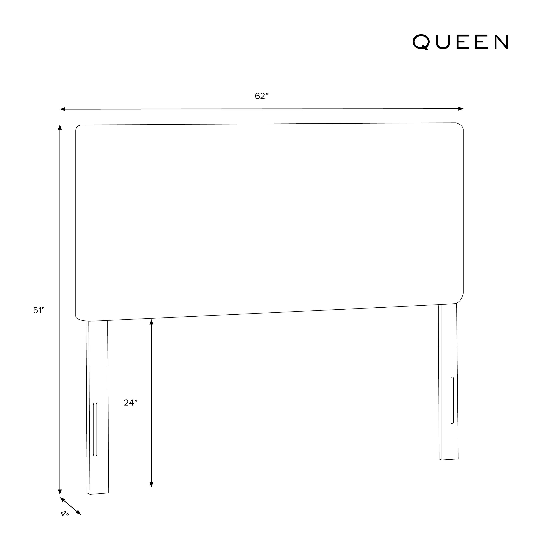 Radcliff Headboard, Queen, Pumice