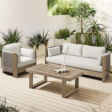 Porto Collection Driftwood + Warm Cement Cord Sofa