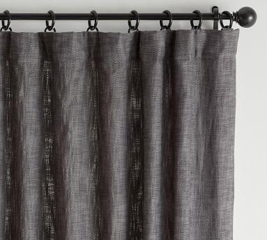 "Seaton Textured Curtain, 50 x 96"", Charcoal"