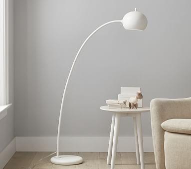 west elm x pbk Petite Arc Floor Lamp, White
