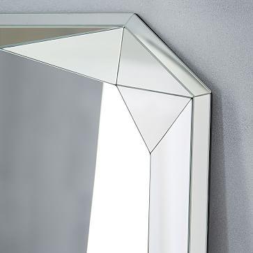 Faceted Floor Mirror, Emerald Cut