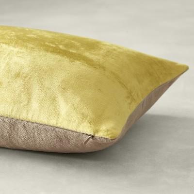 """Solid Velvet Pillow Cover, 22"""" x 22"""", Navy"""